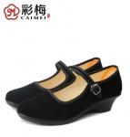 CM001-1922 黑 【独跟一代】舒适休闲工作鞋 广场舞鞋