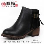 321-017 黑 【二棉】 百搭时尚优雅女裸靴
