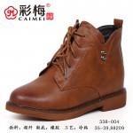 338-004 气质棕 【二棉】 百搭时尚优雅女裸靴