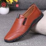 028-036 驼 商务潮流舒适男单鞋