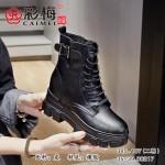 345-107 黑 【二棉】 时尚优雅气质马丁靴